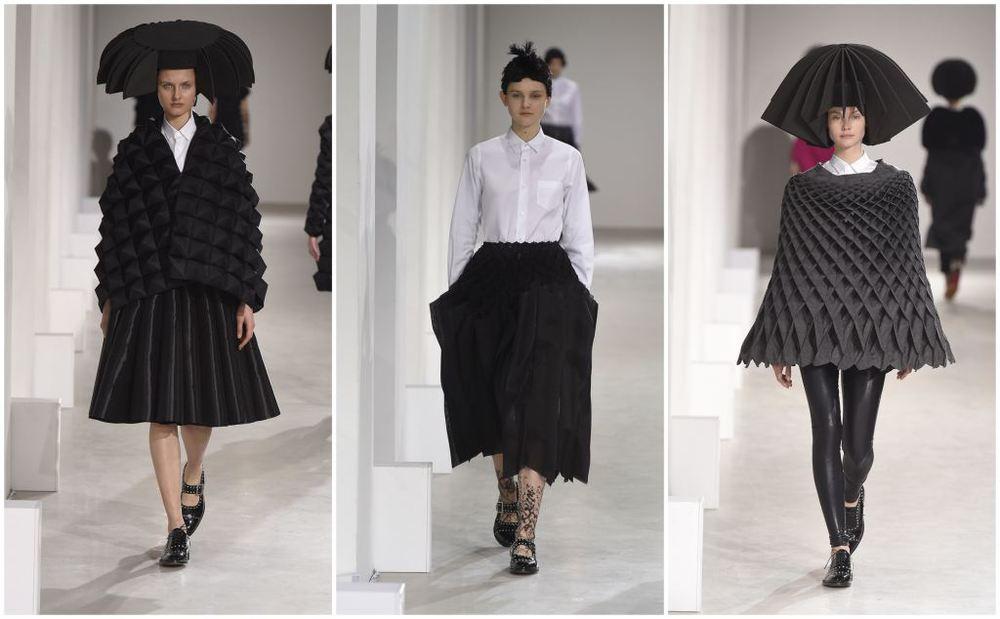 Junya Watanabe's geometric stunners.(Courtesy of Comme des Garçons)