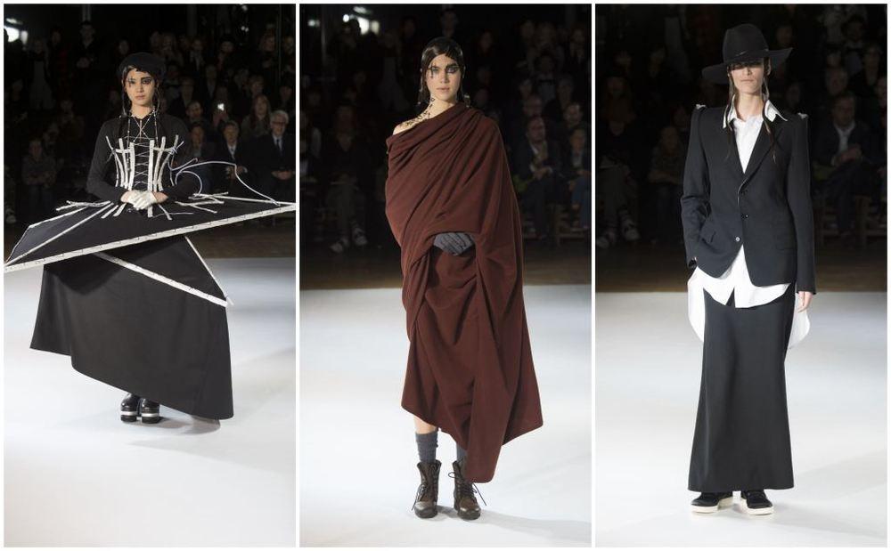 Yohji Yamamoto showed a mix of the wearable and wonderful.(Monica Feudi. Courtesy of Yohji Yamamoto.)