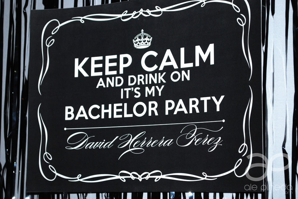 Bachelor party invitation. Keep calm and chive on. KKCO, black and white, whiskey theme, man cave, king, vintage, modern.