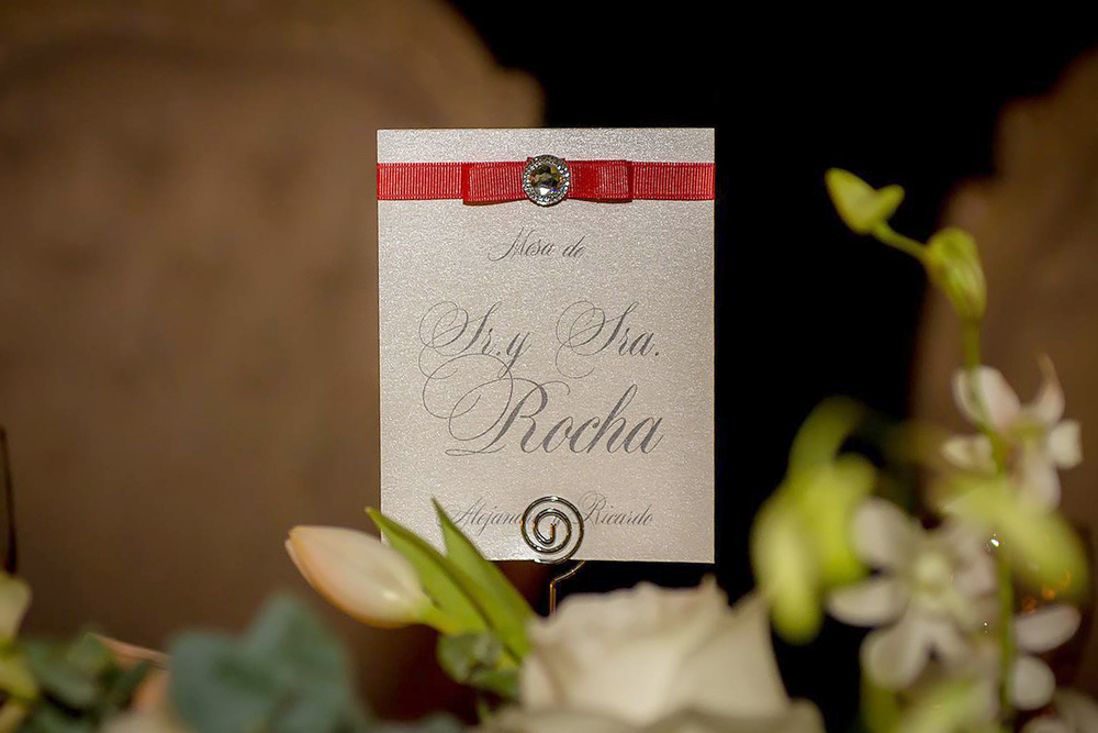 Bride and groom table number: mexican colonial wedding, elegant and classy