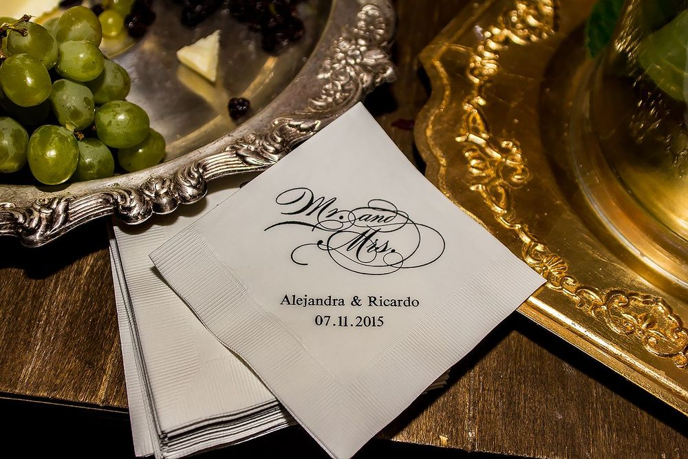 napkins: mexican colonial wedding, elegant and classy
