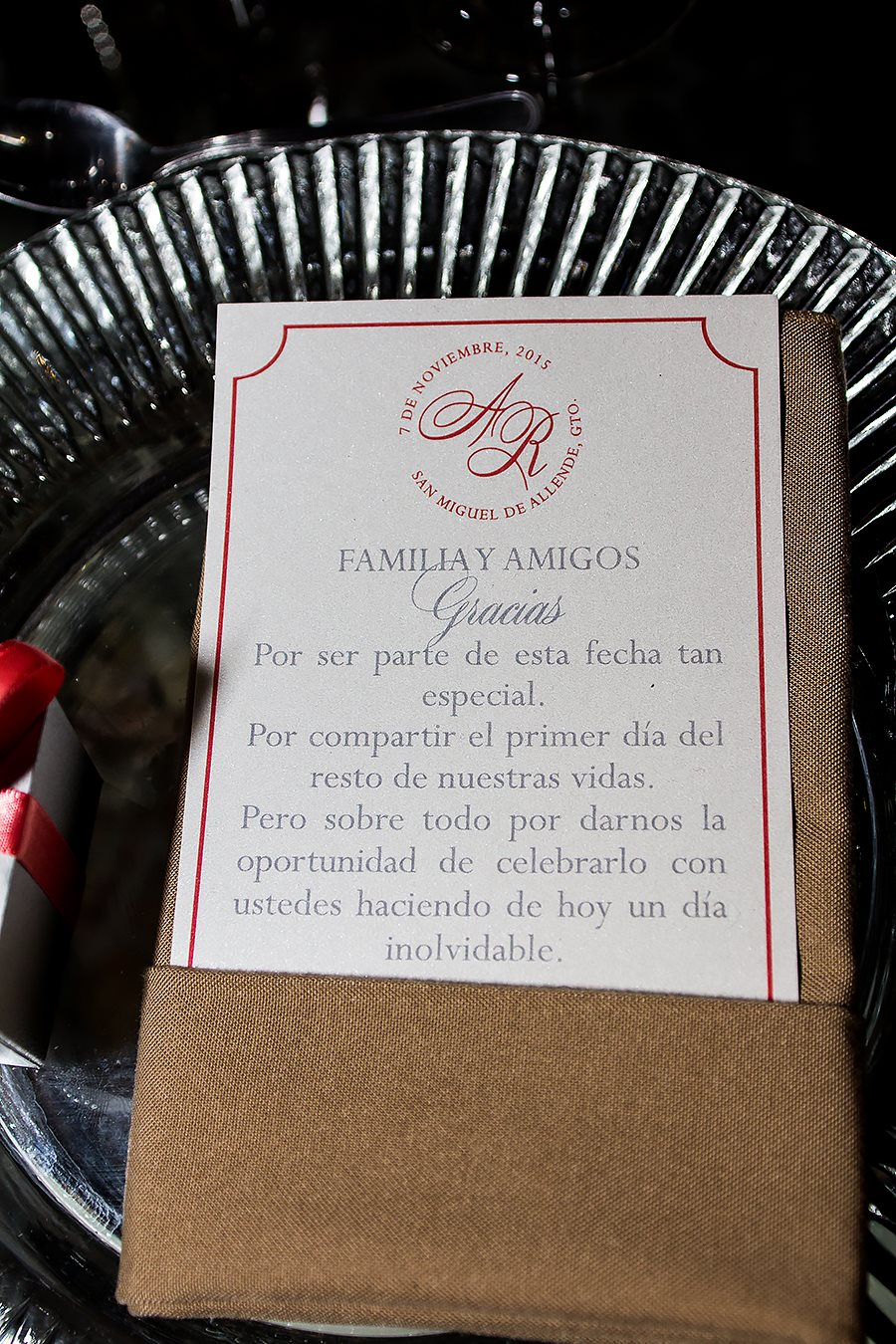 Thank you note: mexican colonial wedding, elegant and classy