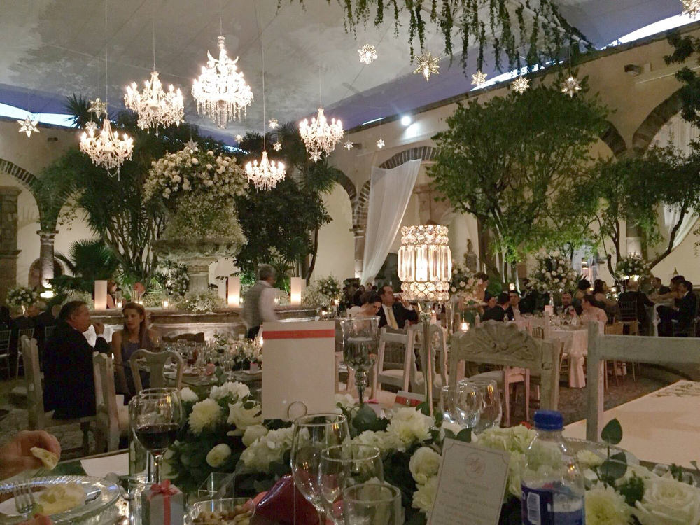mexican colonial wedding, elegant and classy