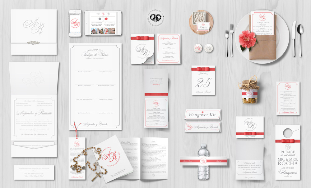 Wedding branding: mexican colonial wedding, elegant and classy