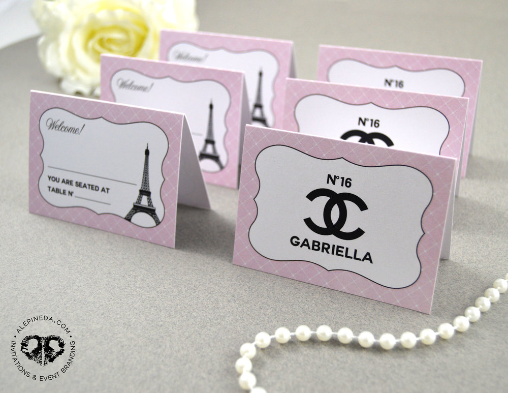 CHANEL PLACE CARDS