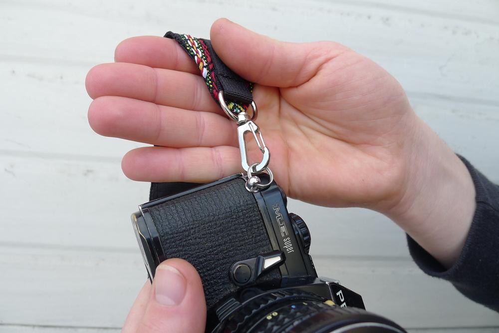 Attach metal snap hooks to cord loop or key rings