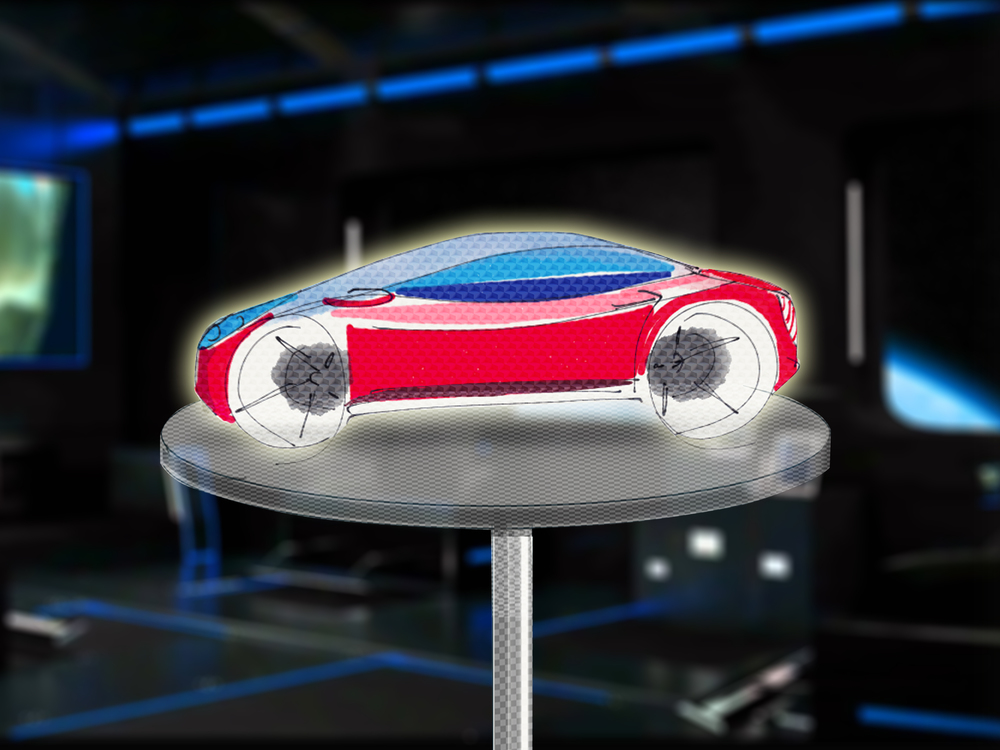 Car model formed by self-assembling Cubots