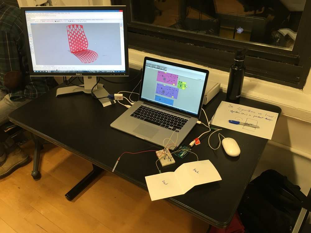 Sensor data driving the 3D model generated.