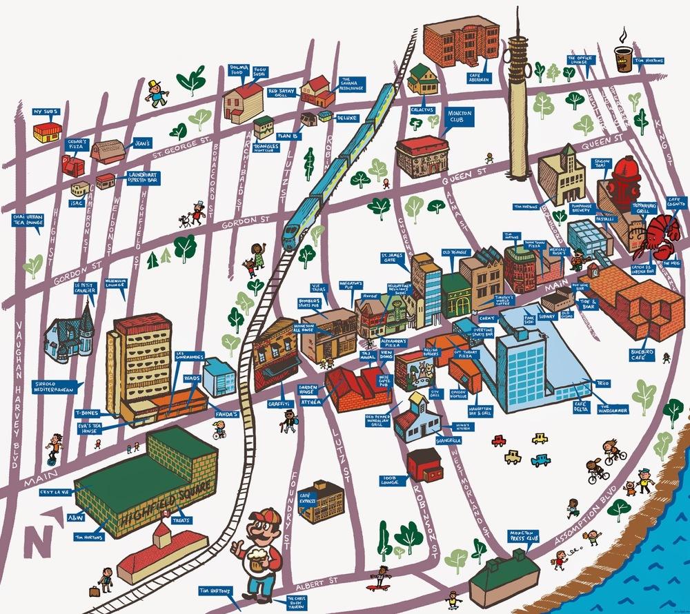 Restaurant Map, 2013  Moncton Times & Transcript