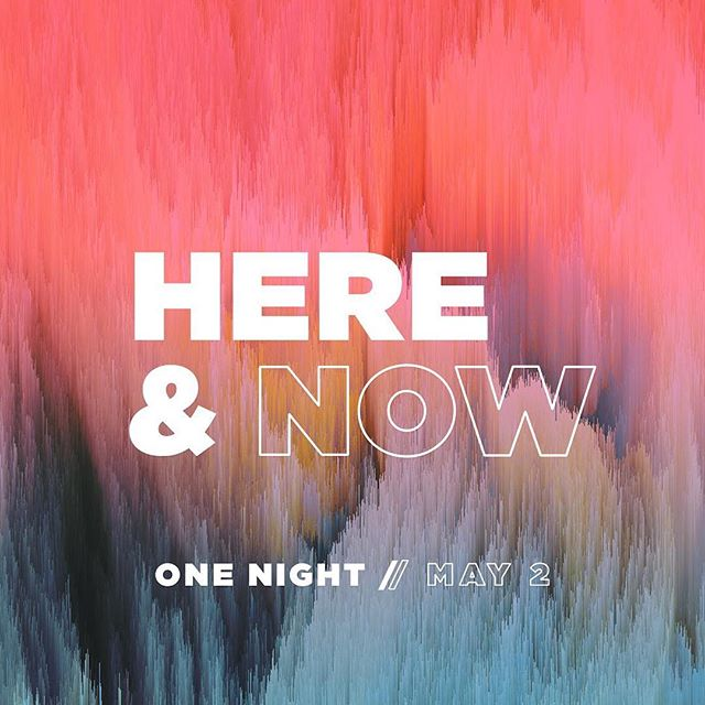 "What's it look like to live ""here and now""? Join us tomorrow to find out! And eat some SWEET vintage ice cream. Come hang out with us! 6:30 / North Campus"