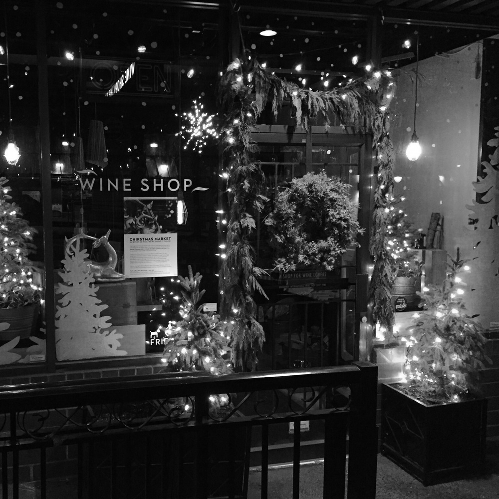 Our cozy little shop all decked out for the holidays!