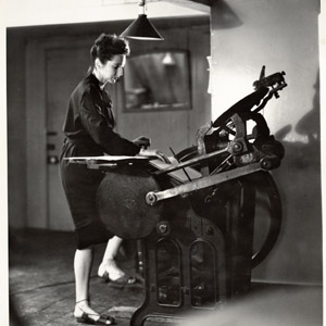 When publishers were not interested in her work, Anais Nin bought a foot operated printing press and published books herself.jpg
