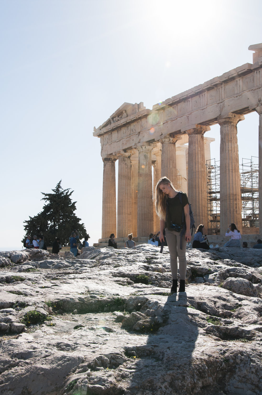 Standing at the Acropolis, Athens, Greece.