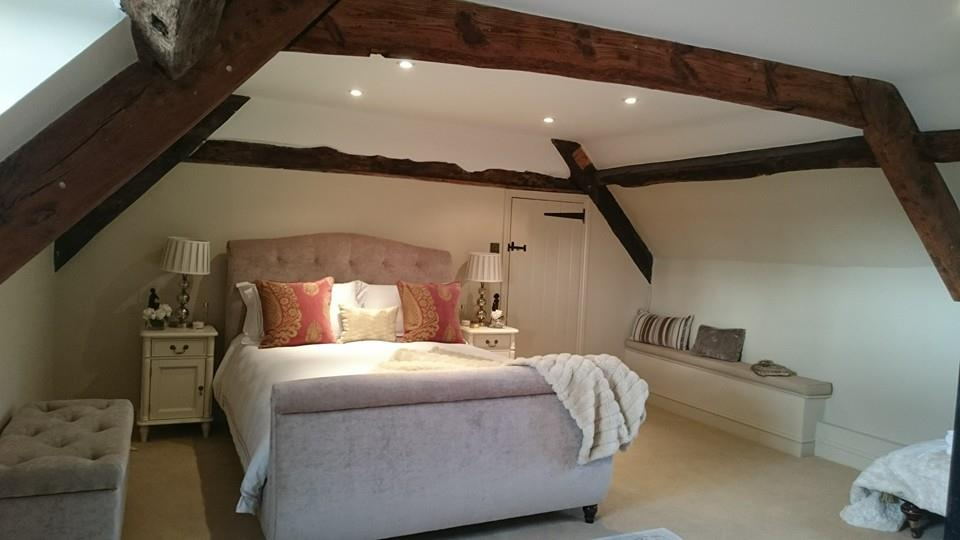 Bedroom decorating completed by Craig Brooks Painting & Decorating