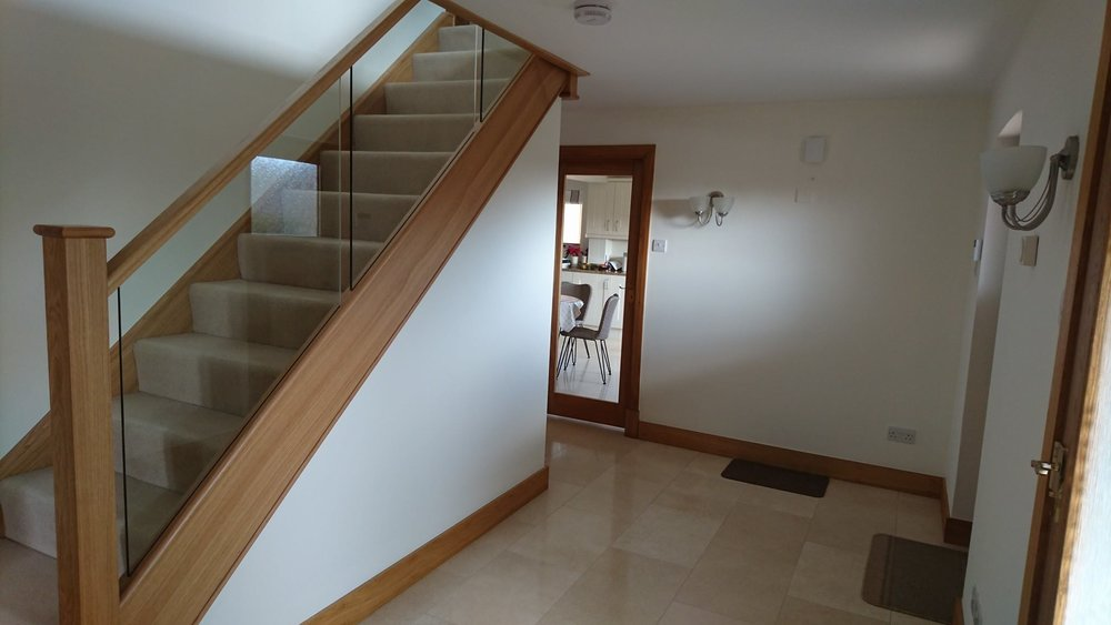Hall, stairs & landing completed in Alton Priors, Wiltshire