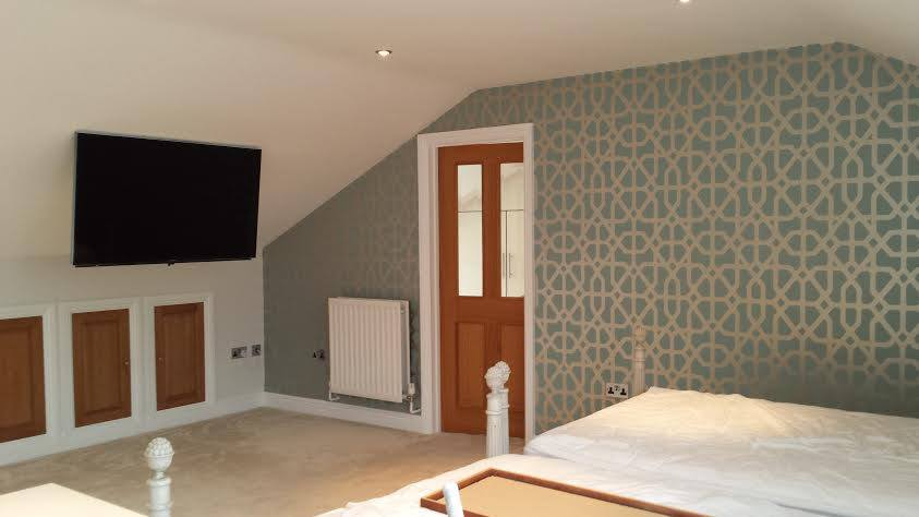 Bedroom painting and wallpapering completed in Wanborough, Wiltshire