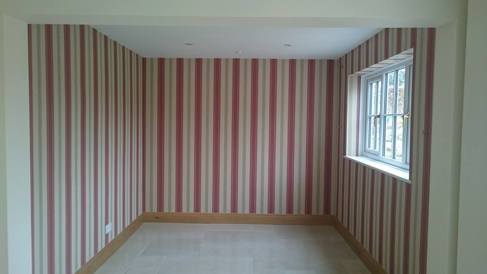 Dining room Wallpapering completed in Alton Barnes, Wiltshire