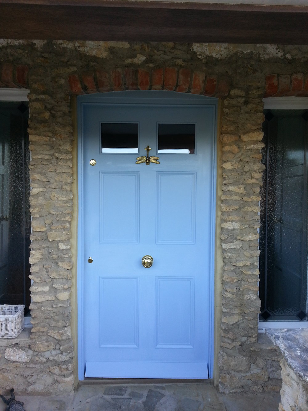 Exterior front door decoration in Stanton Fitzwarren, Swindon, Wiltshire