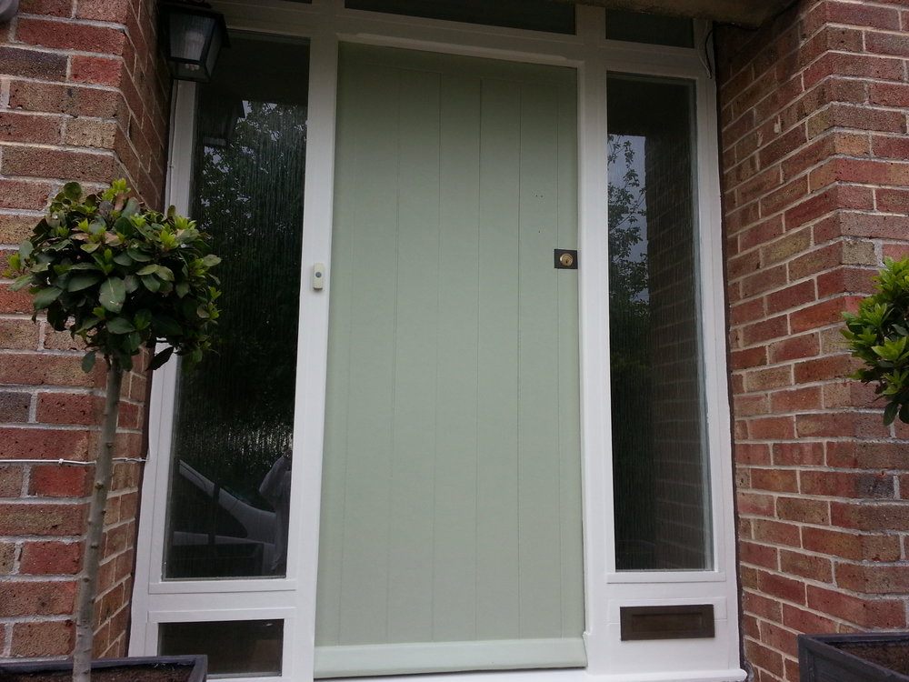 Exterior front door decoration in Royal Wootton Bassett, Swindon, Wiltshire