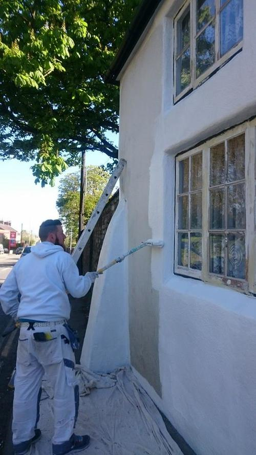 Exterior masonry decoration in Highworth, Wiltshire
