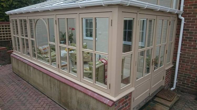 Exterior conservatory decoration in Alton Barnes, Wiltshire