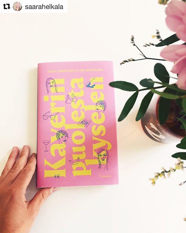 Myös tämä aivan järjettömän riemastuttava ja ihana kirja ilmestyi viime viikolla! 💌 Kirjaa myy mm. Adlibris ja äänikirjakin on tulossa! #kosmoskirjat #kpkkirja #kaverinpuolestakyselen #annakarhunen #tiiarantanen #podcast
