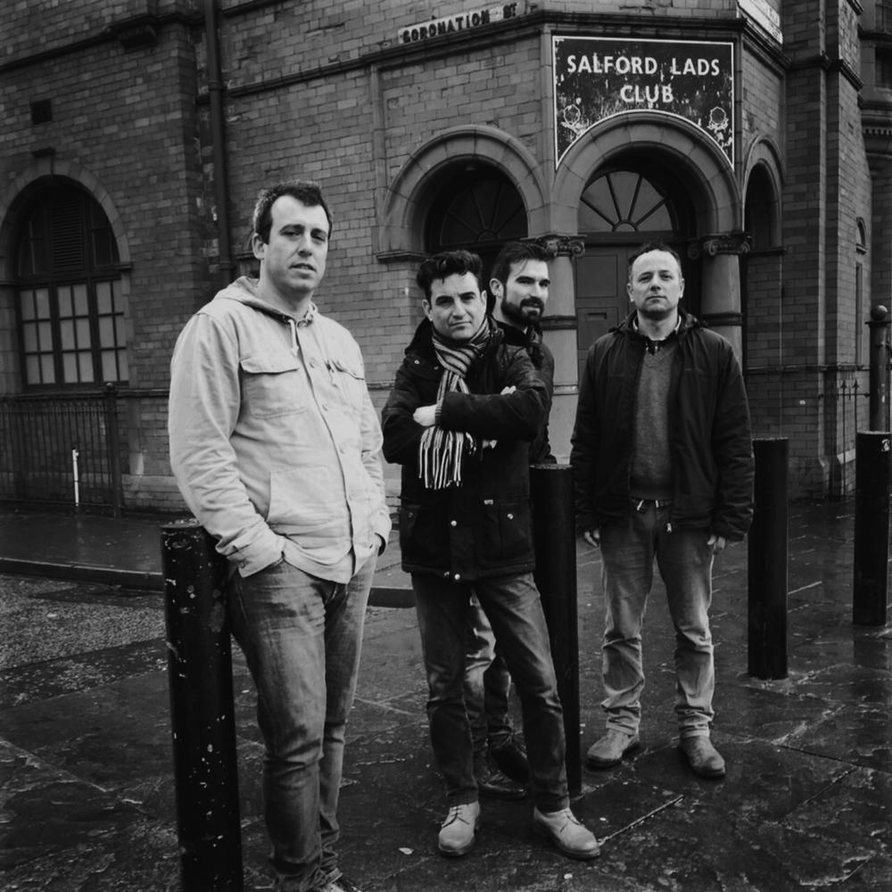 Marcel, Luis Le Nuit, Homeless Dj y Fernando, Salford Lads Club, Manchester (2015).