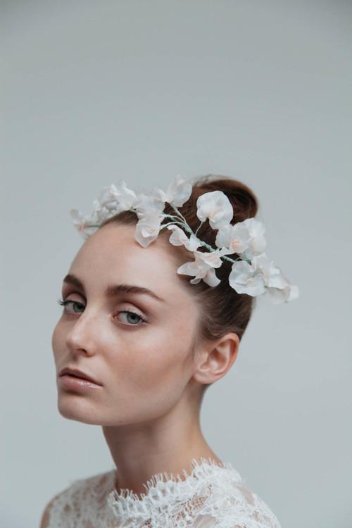 June silk flower bridal hair vine blackbirds pearl sweet pea millinery silk flower bridal headpiece mightylinksfo