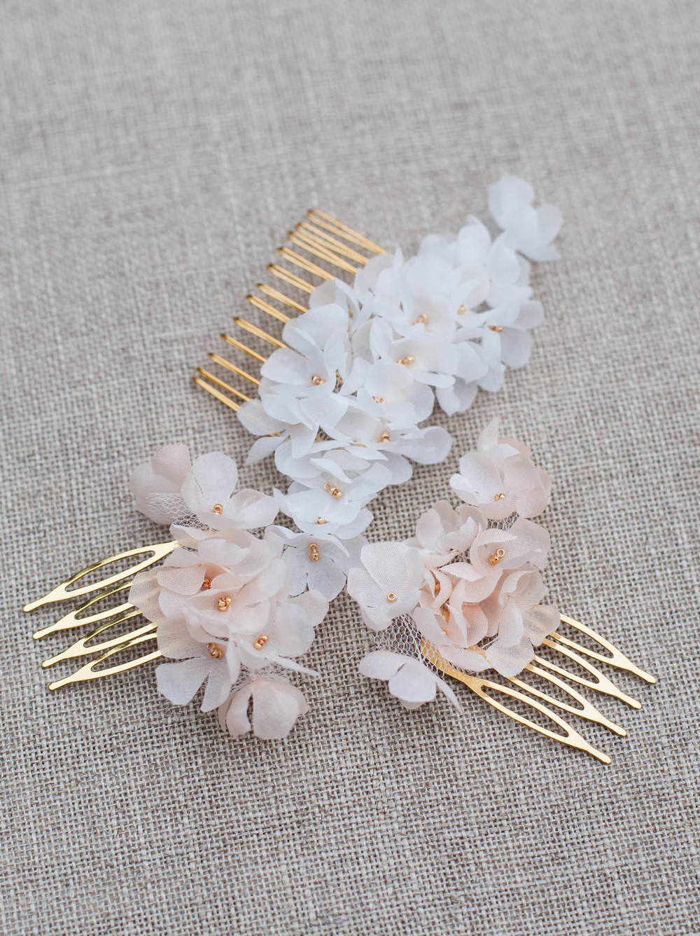 Marigold Bridal Hair Flower Pins Blackbirds Pearl