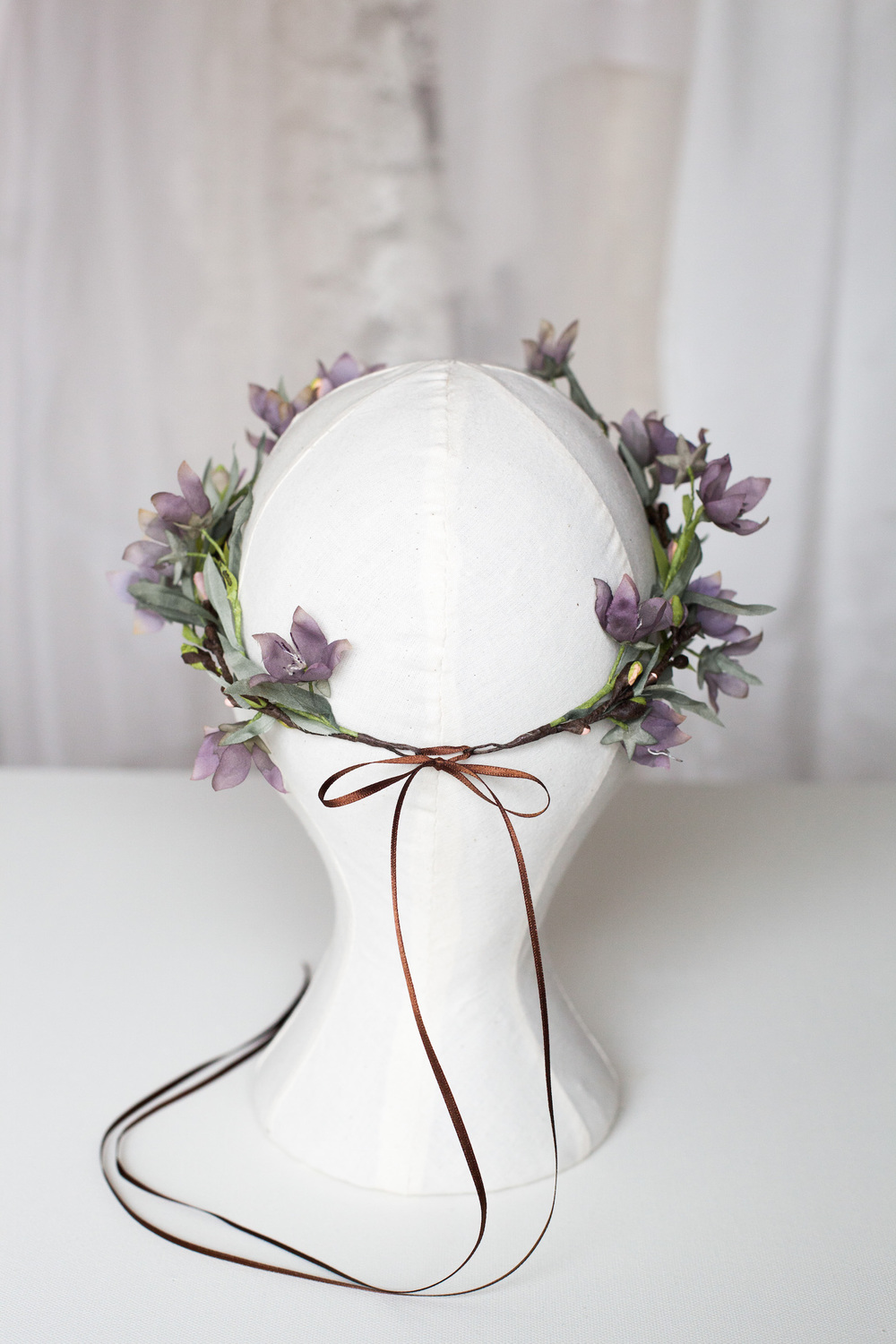 purple-wildflower-crown-handmade-woodland-wedding-couture-headpiece