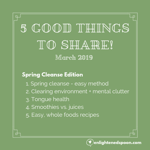 5 GOOD THINGS TO SHARE!