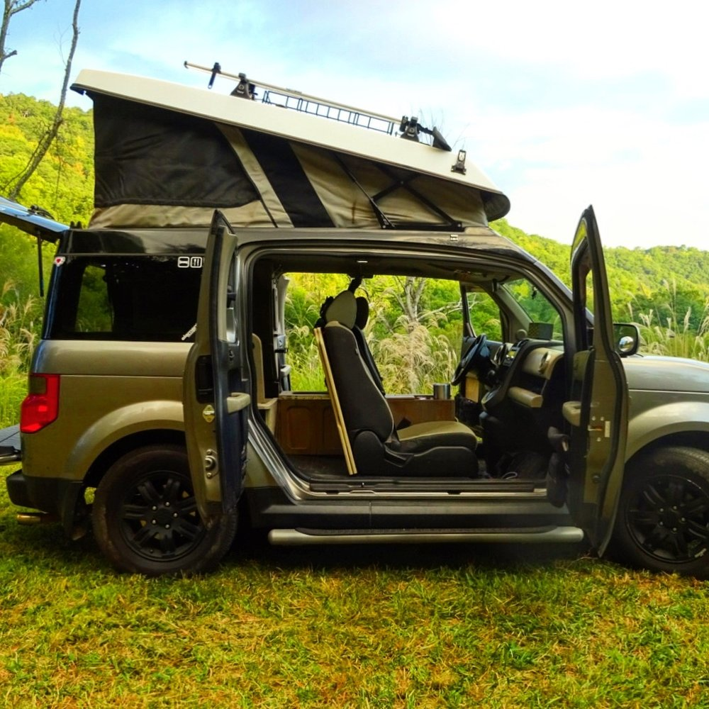 URSA MINOR VEHICLES The Ecamper is the one & only pop-top designed specifically for the Honda Element. With over 500 installed and counting this is the Ultimate upstairs for your Element.