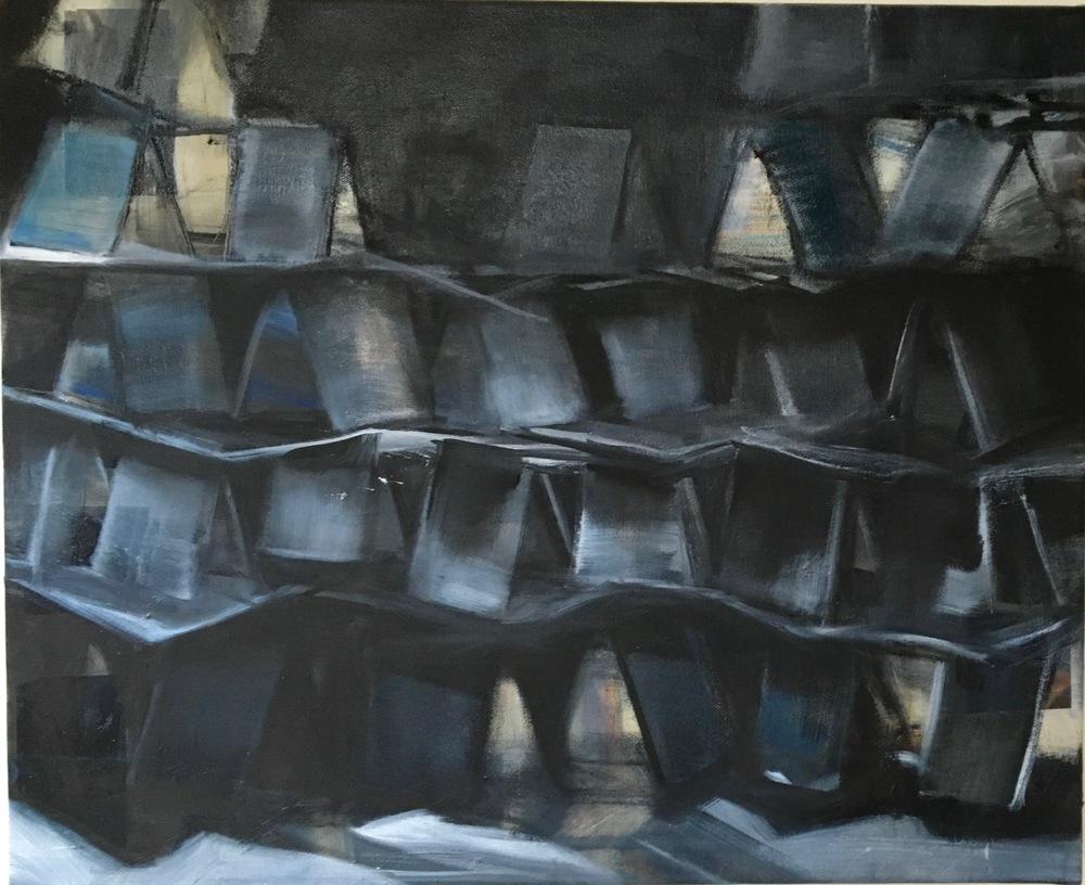 CARTES 3, 2016, huile sur toile, 50x61cm