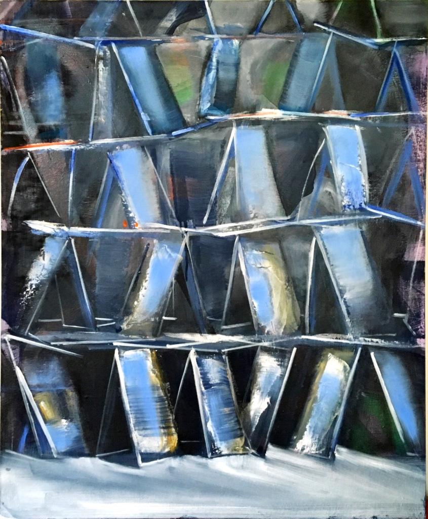 CARTES 2, 2012, huile sur bois, 73x60 cm