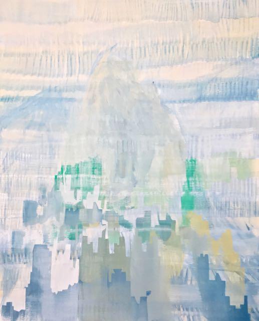 ville 4, 2017, acrylique sur toile, 116x89cm