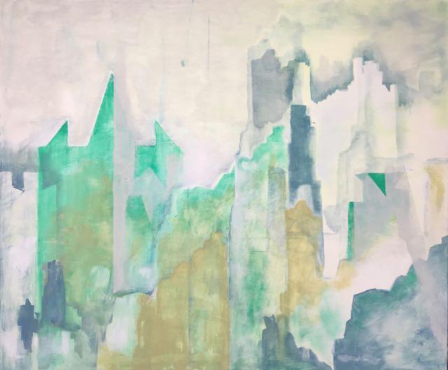 Ville 3, 2017, acrylique sur toile, 100x120cm