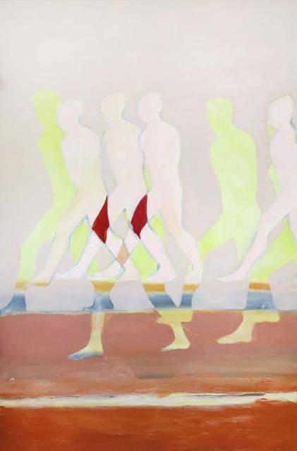 Sans titre, (4), 2015, huile sur toile, 81x54 cm