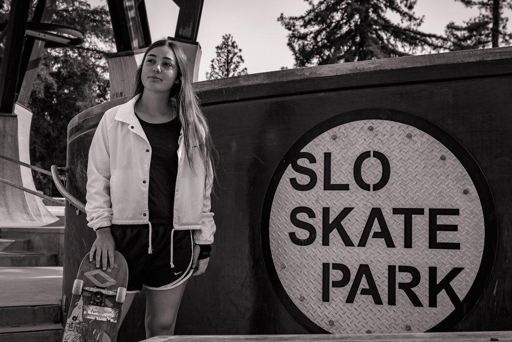 Ashleigh in San Luis Obispo Skate Park