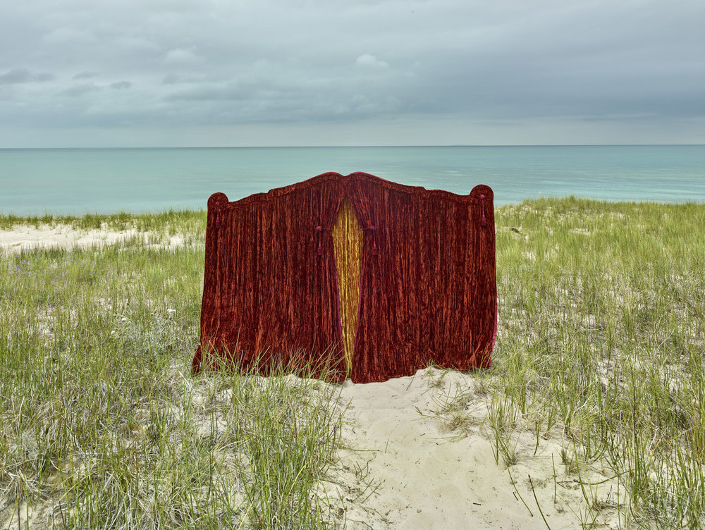 Funeral Curtain  Cat Head Bay, Lake Michigan
