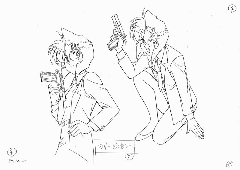To help you get started, we've made available an  archive of the original Gunsmith Cats settei  (character reference drawings).