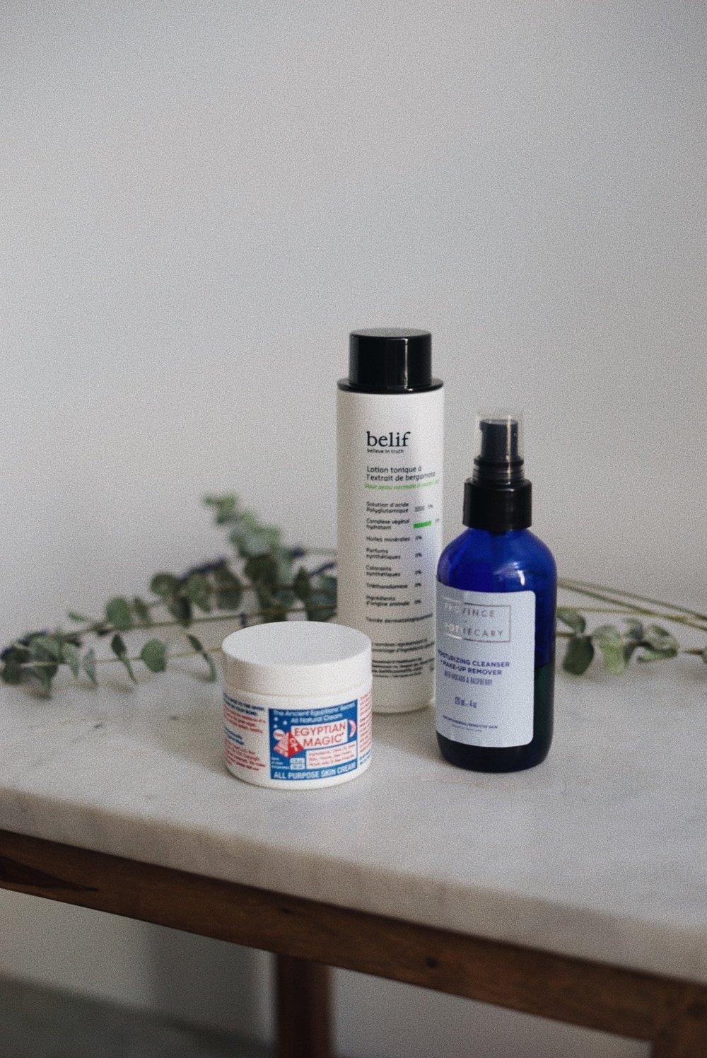 Day Products - Province ApothecaryMoisturizing Cleanser + Make Up Remover BelifBergamot Herbal Face TonerEgyptian Magic Face Cream