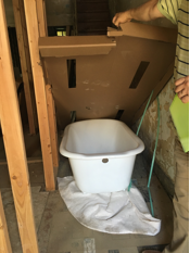 New Clawfoot bath tub. 9/13/16