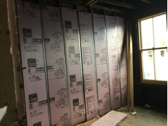 2nd Floor Exterior Wall Insulation and Furring.                      9/13/16