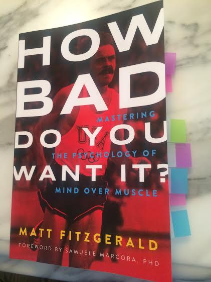 How Bad Do You Want It? by Matt Fitzgerald. With color-coded Post-its, because I'm a nerdlinger.