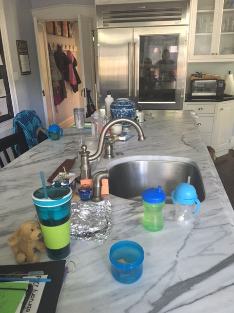 My cluttered kitchen counters.