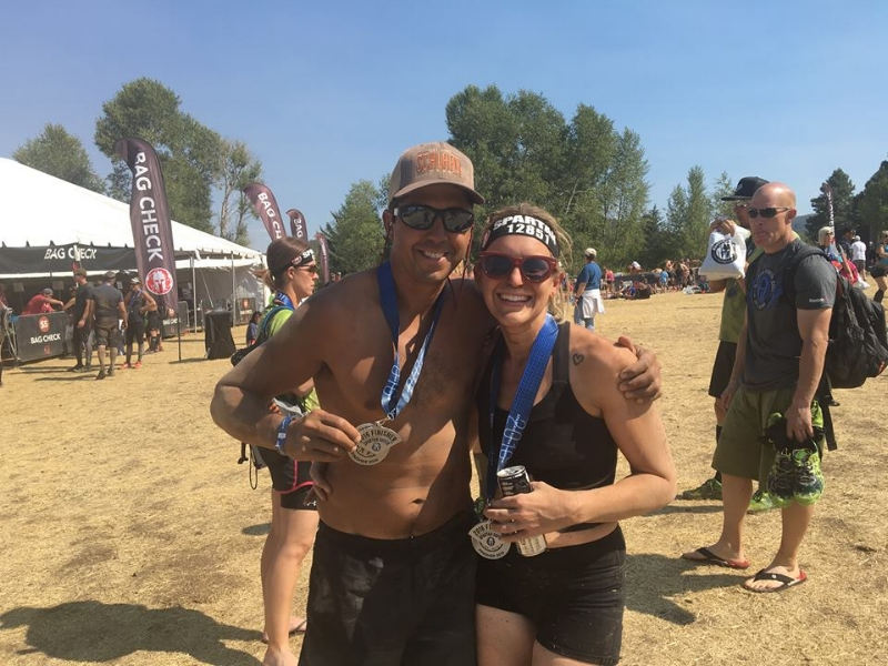 My husband and I, after our Spartan in Utah last month.
