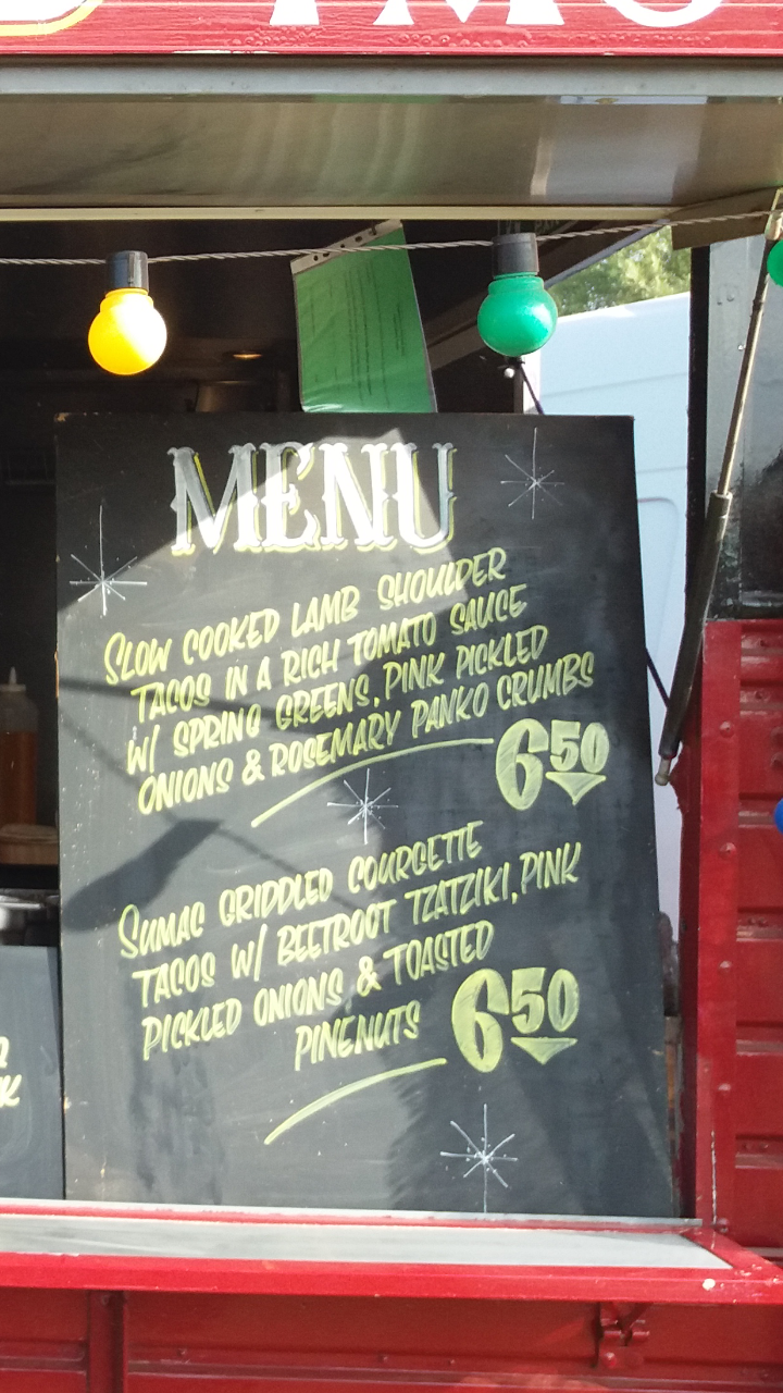 May / June Menu in The Horse Box