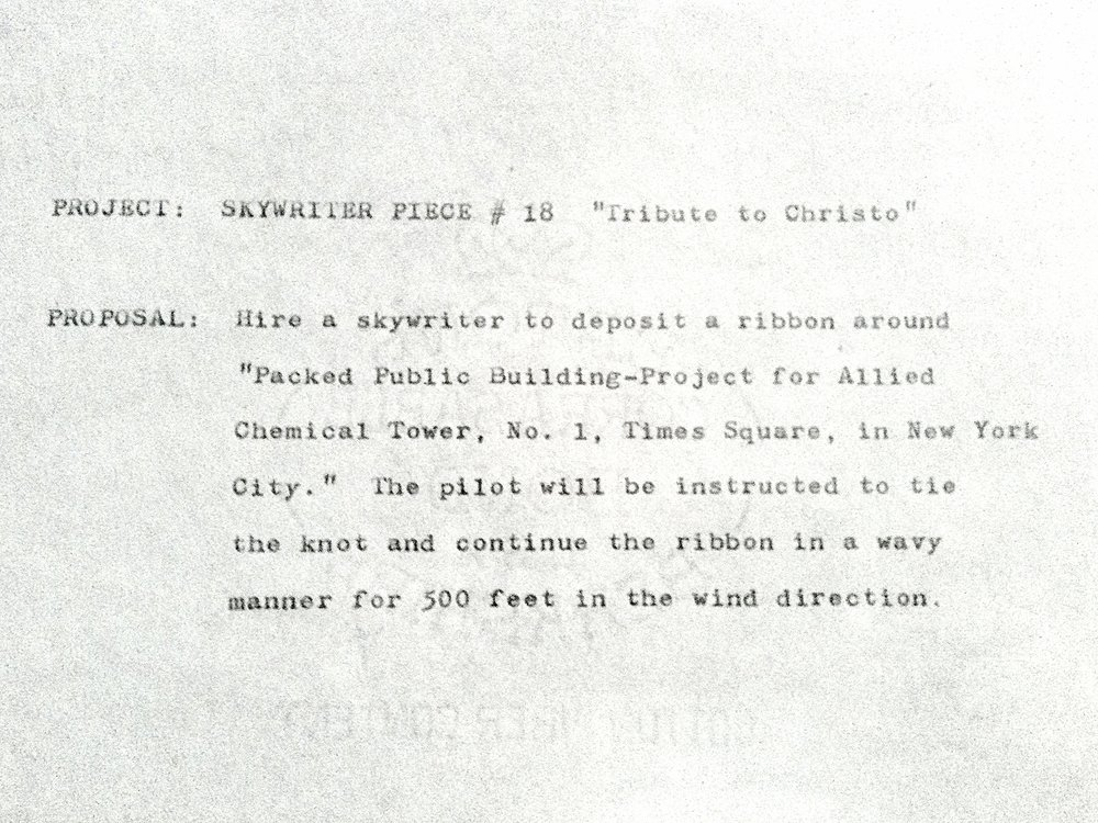 Tribute to Christo, 1975