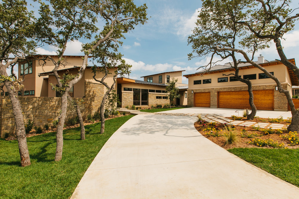 modern new house exterior in san antonio texas