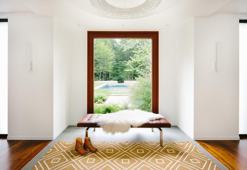 entry modern lake house vermont